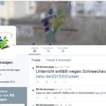 Der offizielle Twitter Account @rs_hw
